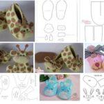 Moldes para hacer zapatidos de bebe de animales