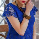 vestido tejido a ganchillo moldes