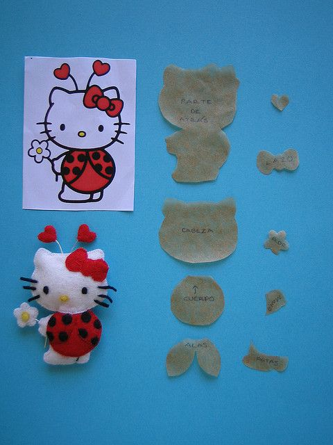 molde de hello kitty en fieltro10