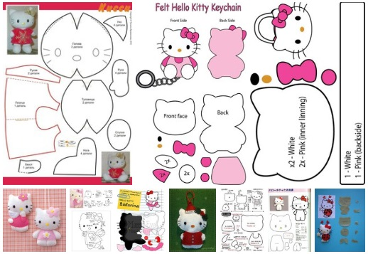 molde de hello kitty en fieltro11