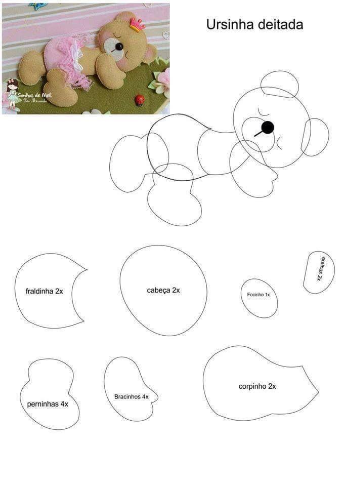 5 moldes de Osos para baby shower05