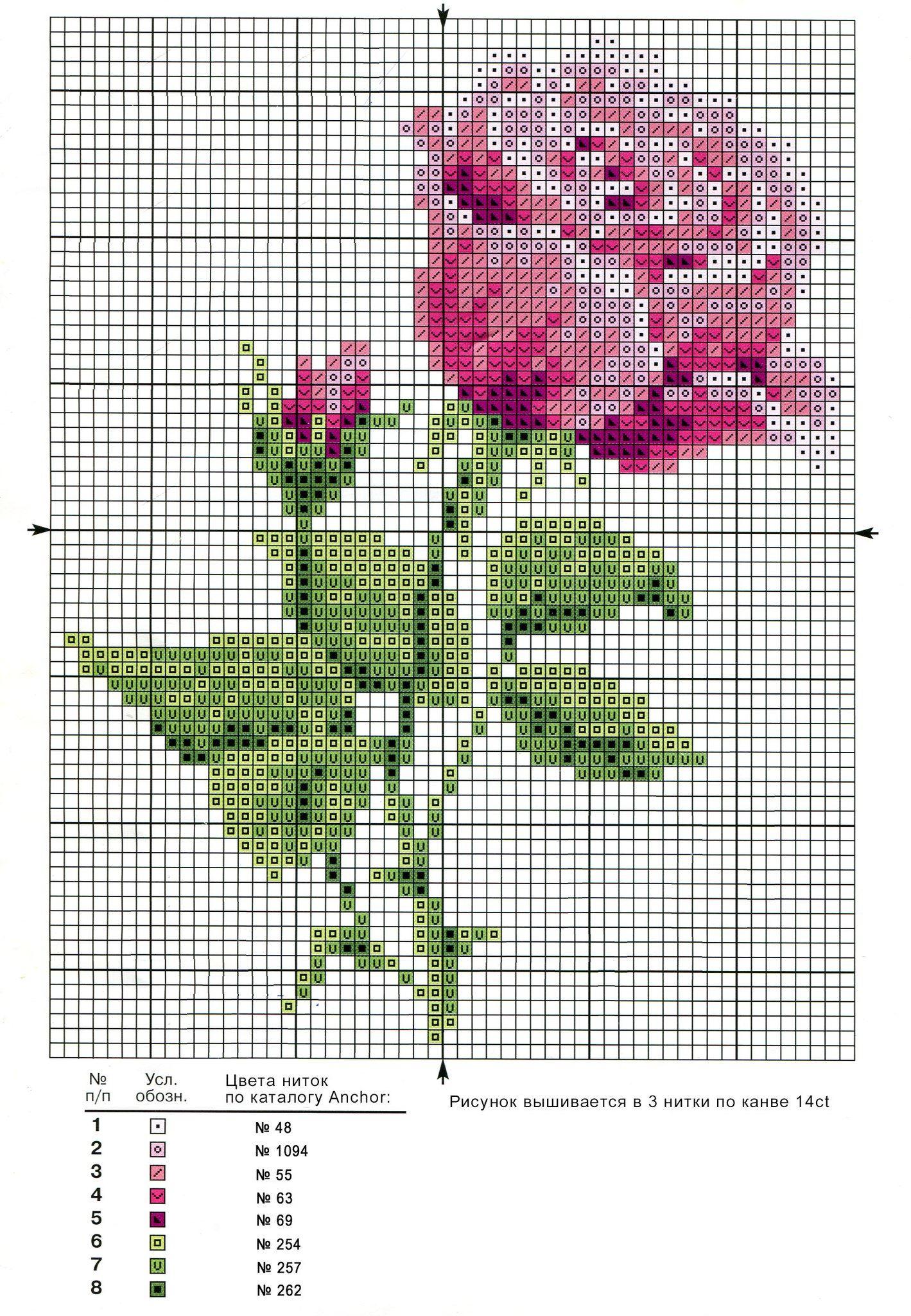 9 moldes de rosas en punto de cruz03
