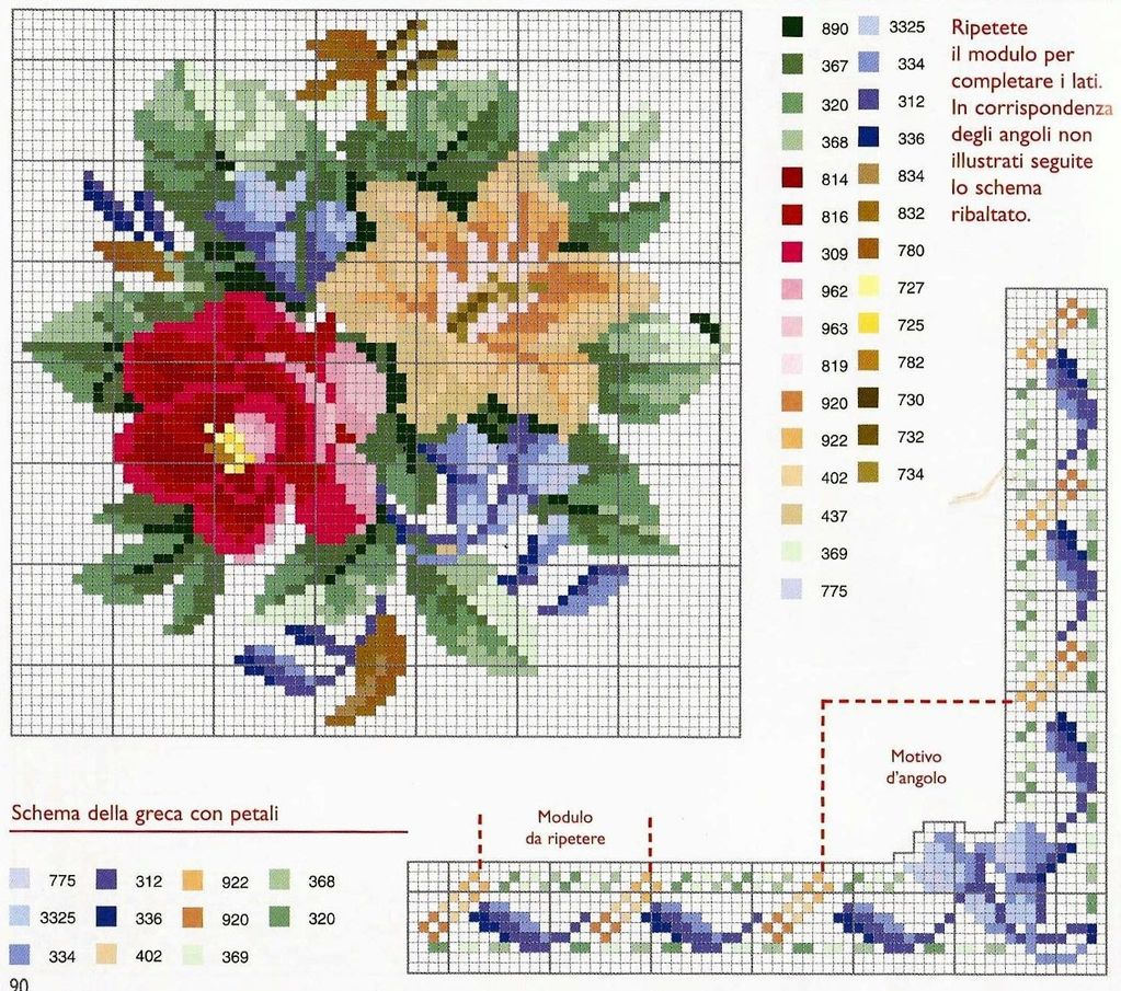 9 moldes de rosas en punto de cruz06
