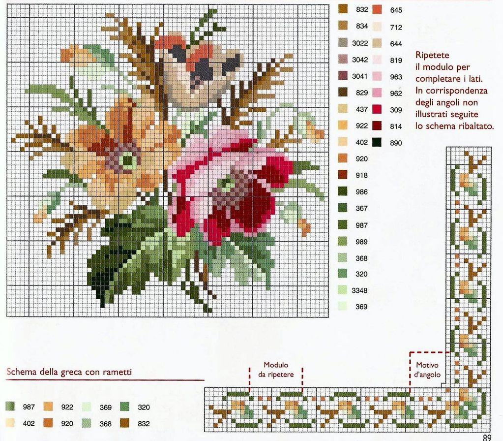 9 moldes de rosas en punto de cruz07