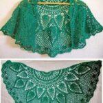 Chal tejido a crochet patrones