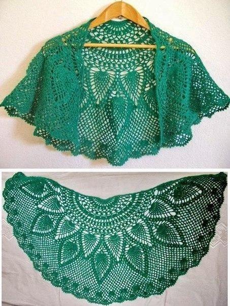 Chal tejido a crochet patrones01