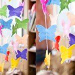 Mariposas de fieltro con moldes