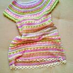 Vestido de verano en crochet «Zigzag» con estampado para niña