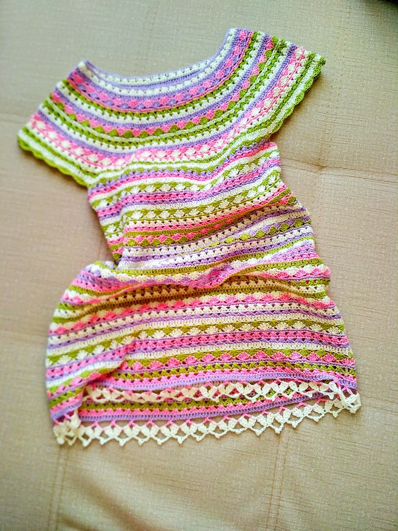 Vestido de verano en crochet para niña01