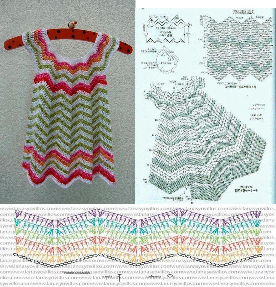 Vestido de verano en crochet para niña12