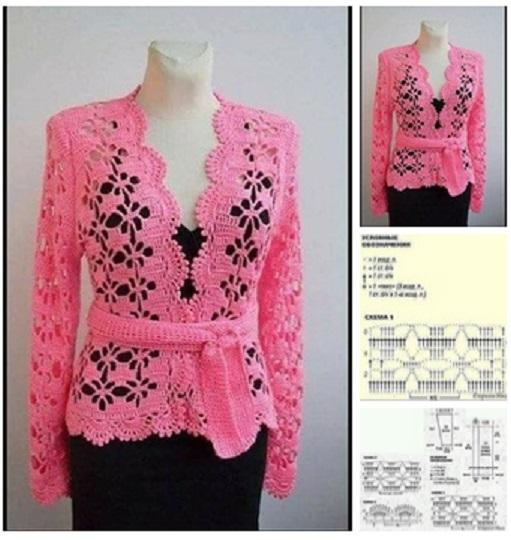 chaqueta tejida a crochet para mujer moldes05