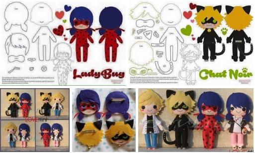 como hacer muñecos de ladybug y cat noir moldes06