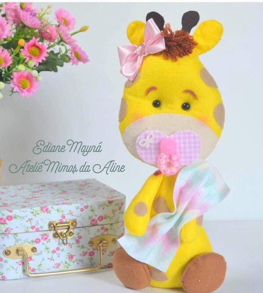 molde jirafa bebe para baby shower01