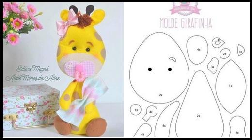 molde jirafa bebe para baby shower03