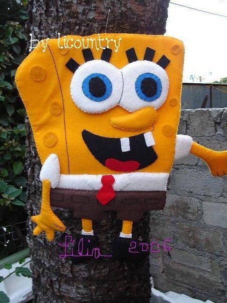 moldes de bob esponja en fieltro01