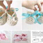 moldes de botines a crochet para bebe