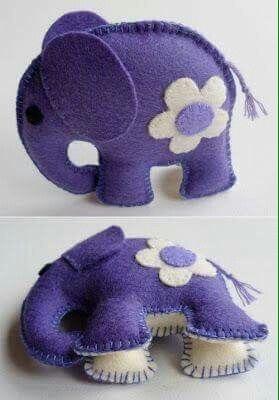 moldes de elefantes de fieltro10