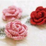 moldes de flores a crochet tutorial paso a paso