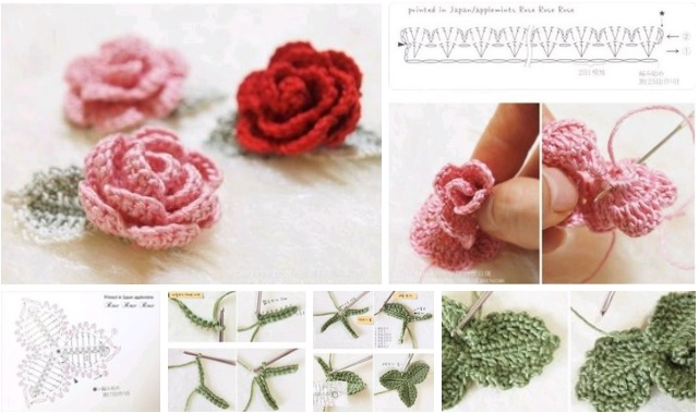 moldes de flores a crochet tutorial paso a paso07