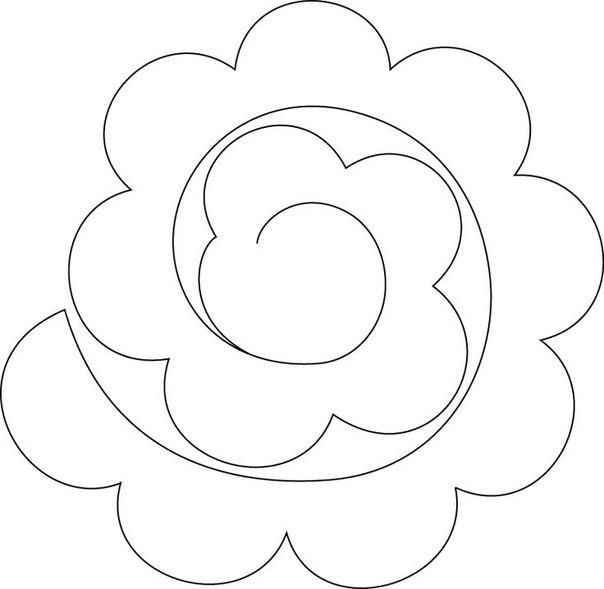 Moldes De Flores De Fieltro Para Imprimircon Moldes