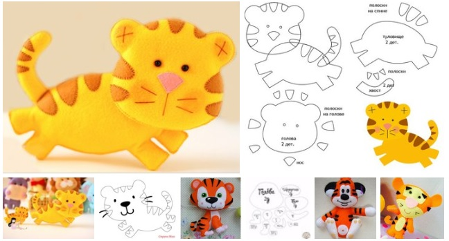 moldes de tigres de fieltro09