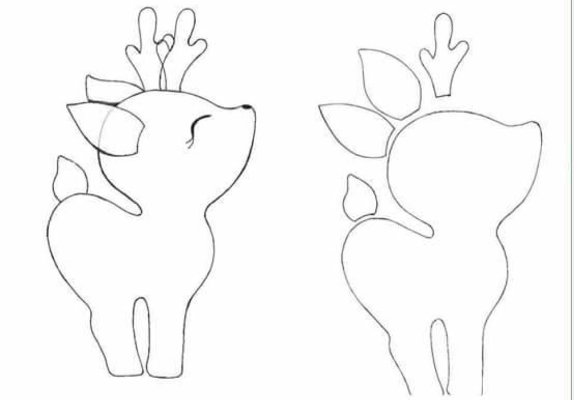 patrones de renos de navidad en fieltro