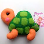 patrones de tortugas de fieltro