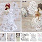 Moldes de Angeles de Navidad de Crochet