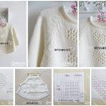molde de Poncho para niñas tejido en crochet