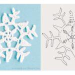 moldes de Copos de nieve hechos en crochet
