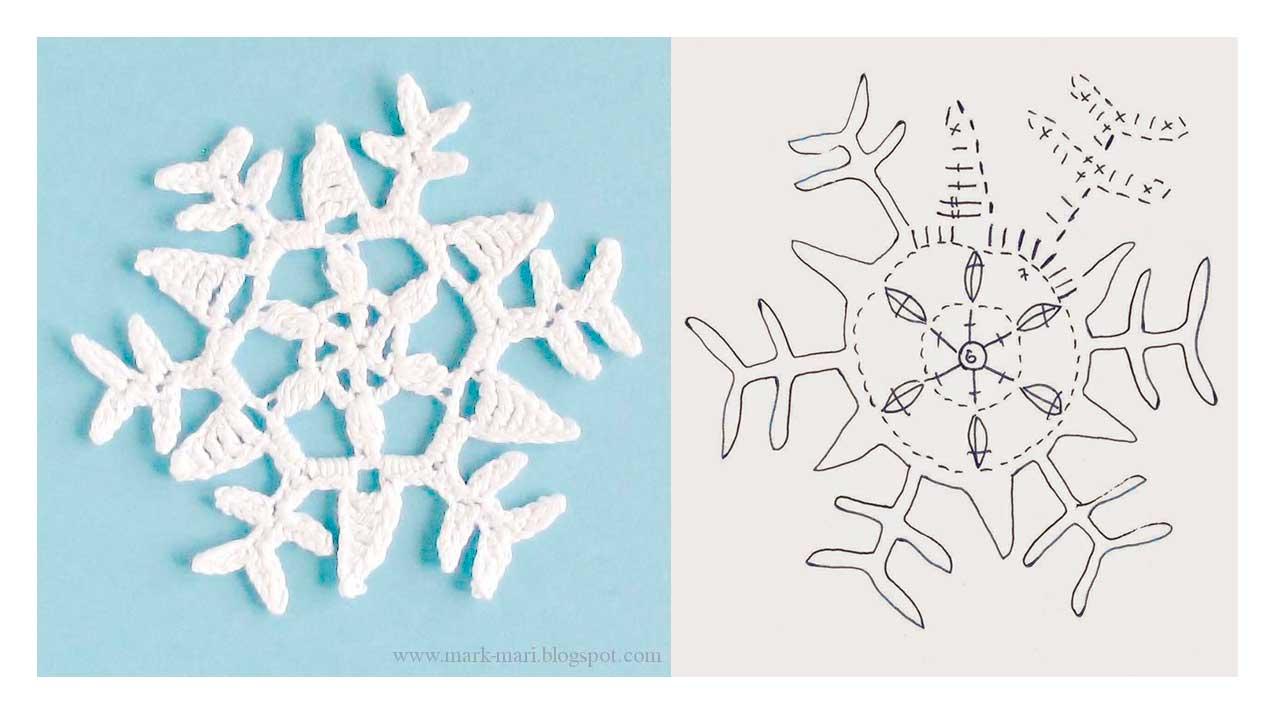 moldes de Copos de nieve hechos en crochet11