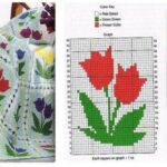 moldes de cuadros de tulipanes a ganchillo