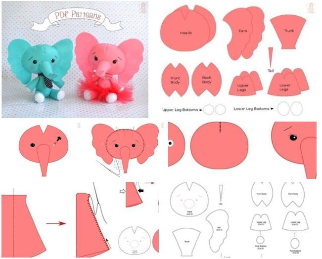 moldes para hacer peluches de elefantes09