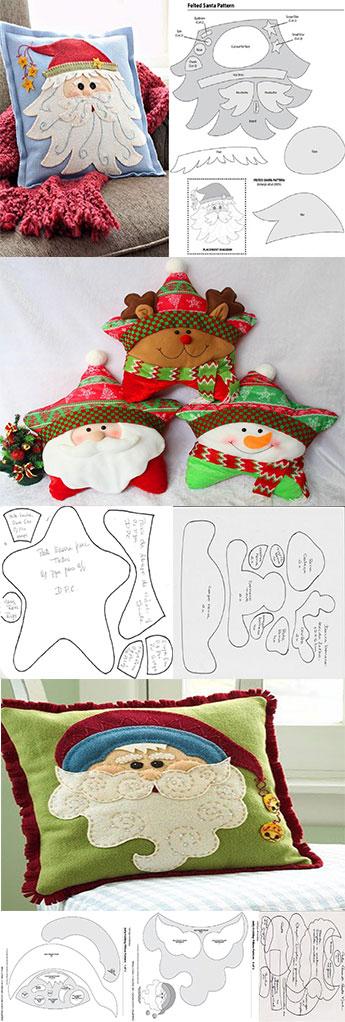 patrones para hacer almohadas de navidad