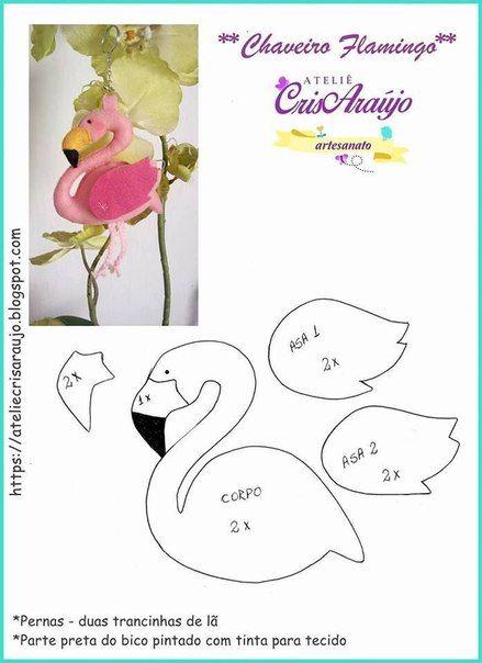 Molde flamingo de fieltro05