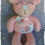 Molde oso de peluche rosado
