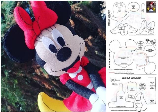Molde para hacer a minnie mouse en fieltro06