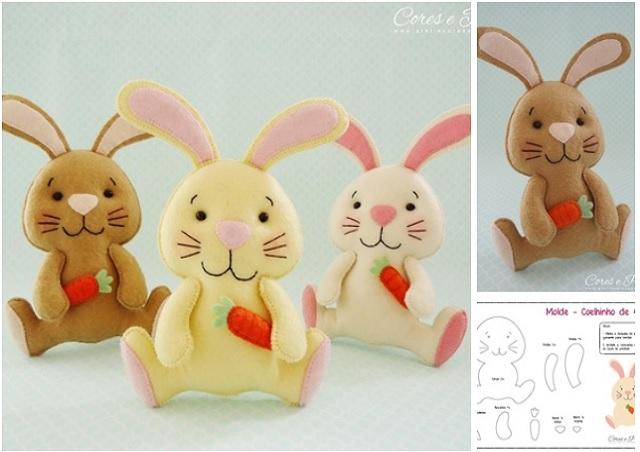 Moldes para hacer conejos de fieltro05