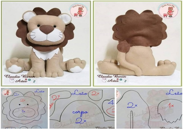 molde de leon en fieltro07