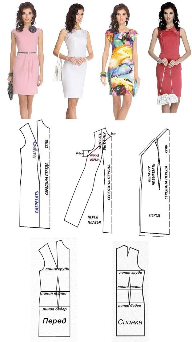4 modelos de vestidos patrones10