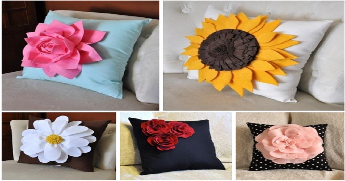 Cojines decorativos con flores