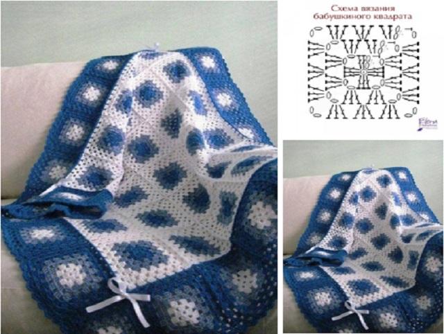 Manta con cuadros tejidos en crochet03