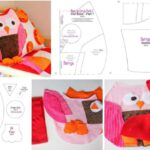 Almohada para niños de buhos con moldes