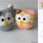 Buhos hechos con calcetines patrones