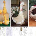 Moldes de Gansos y patos de tela