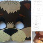 molde de mascara de oso