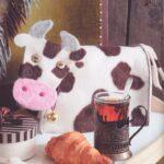 molde de una vaca de fieltro