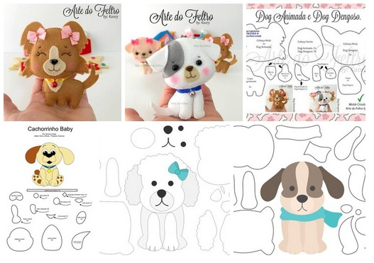 patrones para hacer perros de fieltro