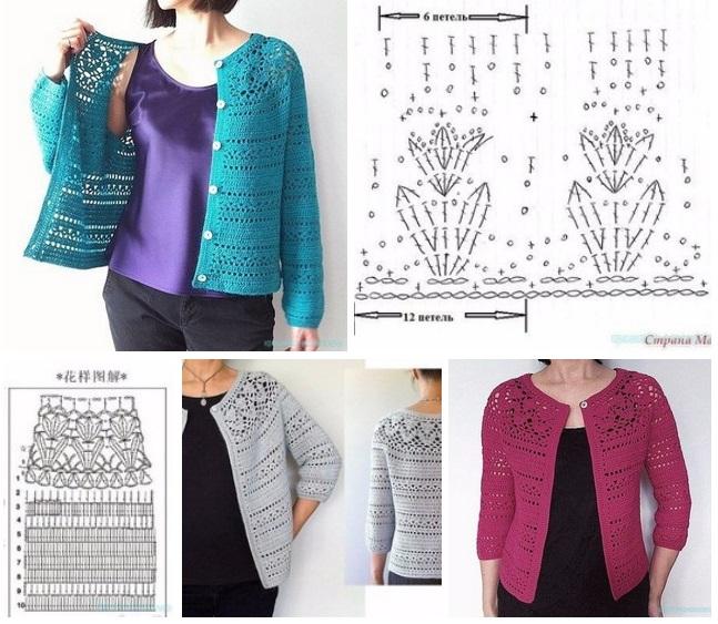 chaquetas a crochet para mujer
