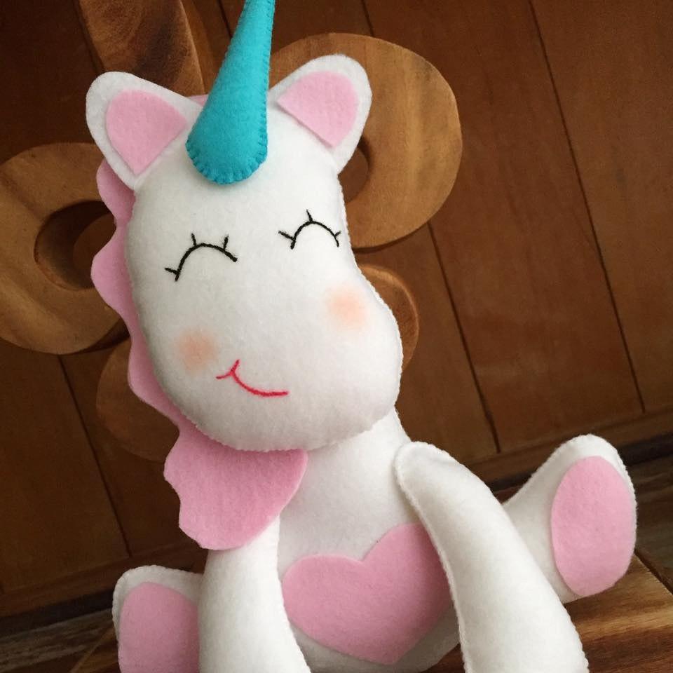 Moldes para hacer unicornios de fieltro